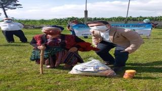 TİKA, Guatemala'da ihtiyaç sahibi ailelere gıda ve hijyen paketi dağıttı