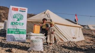 İDDEF, Yemen'deki 500 aileye gıda yardımı yaptı