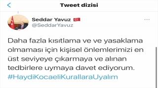 """Kocaeli Valisi Seddar Yavuz'dan """"yoğun bakım"""" doluluk oranı uyarısı"""
