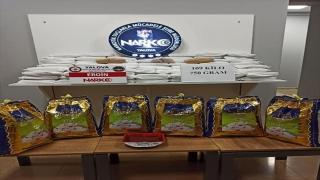 Yalova'da pirinç torbaları ve bal tenekelerine gizlenmiş 192 kilo 150 gram eroin ele geçirildi