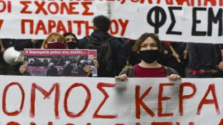"Yunanistan'da üniversite öğrencileri ""kampüs polisi"" yasasını protesto etti"