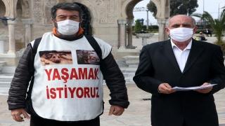 Hayvan haklarına dikkat çekmek için Mersin'den İzmir'e yürüdü