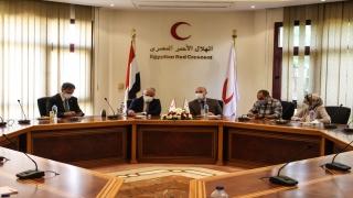 """Türk Kızılay Başkanı Kınık, Mısır Kızılayı Operasyon Müdürü ile """"Gazze'ye yardımı"""" görüştü"""