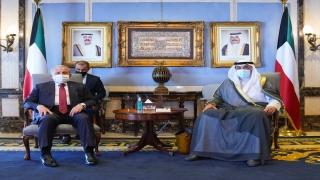TBMM Başkanı Şentop, Kuveyt Başbakanı Şeyh Sabah Halid elHamed esSabah ile görüştü: