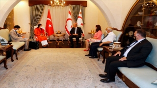 KKTC Cumhurbaşkanı Tatar, Pakistan'ın Ankara Büyükelçiliği yetkililerini kabul etti
