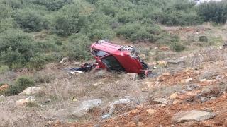 Başakşehir'de otomobilin şarampole devrilmesi sonucu 2 kişi yaralandı