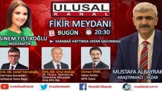 Başyazarımız Mustafa Albayrak bu akşam saat 20:30'da Ulusal Kanal'da