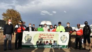 İHH gönüllüsü, yetimlere farkındalık için 2 bin 920 kilometre pedal çevirdi