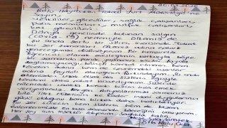 Yurt dışından getirilerek yurtlara yerleştirilen kişilerden teşekkür mektubu