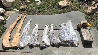 Şırnak kırsalında teröristlere ait silah ve mühimmat bulundu