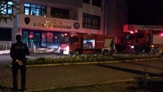 Sinop Emniyet Müdürlüğü binasında yangın çıktı