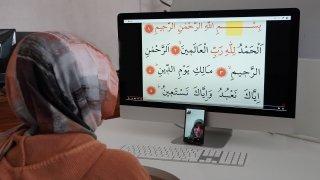 Keçiören'de görme engelli vatandaşlara online Kur'an kursu