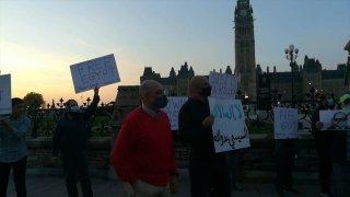 Kanada'da Mısır'daki Sisi karşıtı eylemlere destek gösterileri yapıldı
