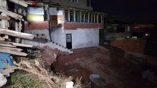 Kocaeli'de toprak kayması nedeniyle bir bina boşaltıldı