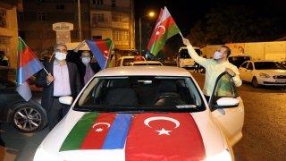 Elazığ'da Azerbaycan'a destek konvoyu