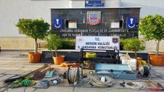 Mersin'de kaçak kazı yaptıkları iddia edilen 3 şüpheli yakalandı