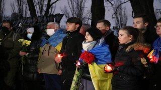 """Ukrayna'da """"meydan olayları""""nda hayatını kaybedenler anıldı"""