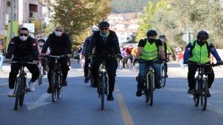Muğla'da öğretmenler pedal çevirip, klip çekti