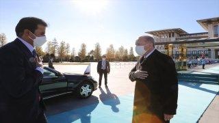 Cumhurbaşkanı Erdoğan, Türkiye'ye gelen Katar Emiri Al Sani'yi resmi törenle karşıladı
