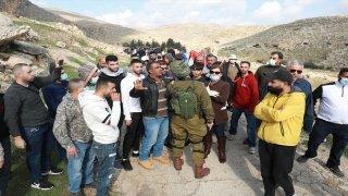 İsrail güçlerinin Batı Şeria'daki gösteriye müdahalesinde 1 Filistinli yaralandı