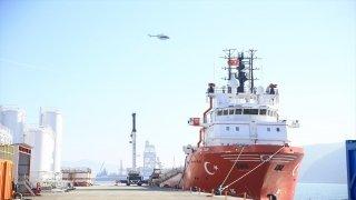 Ulaştırma ve Altyapı Bakanı Karaismailoğlu, Filyos Limanı'nda incelemelerde bulundu