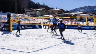 Kar Voleybolu Kadın Milli Takımı, Avrupa Turu Wagrain Etabı'nda üçüncü oldu