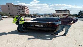Hatay'da otomobiliyle drift görüntüleri sosyal medyaya yansıyan sürücüye 6 bin 700 lira ceza