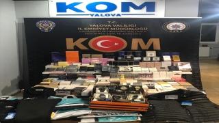 """Yalova'da bir kişi sosyal medya üzerinden canlı yayınla """"kaçak ürünler"""" sattığı sırada yakalandı"""