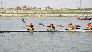 Barış Pınar Harekatı bölgesinde Durgun Su Kano Festivali düzenlendi