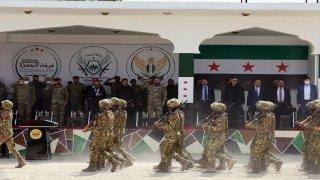 Suriye Milli Ordusu'ndan Barış Pınarı Harekatı bölgesinde ilk mezuniyet töreni