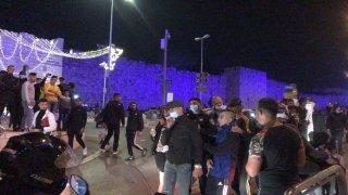 İsrail polisinden Kudüs'te Filistinlilere müdahale