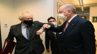 Cumhurbaşkanı Erdoğan, Birleşik Krallık Başbakanı Johnson ile bir araya geldi