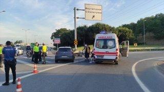 Bayrampaşa'da otomobilin çarptığı motosiklet sürücüsü hayatını kaybetti