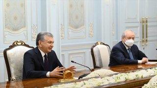 Özbekistan Cumhurbaşkanı Mirziyoyev, BM 75. Genel Kurul Başkanı Bozkır'ı kabul etti