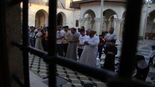 Suriye'nin kuzeyinde Kurban Bayramı namazı kılındı