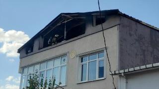 Ümraniye'de çıkan çatı yangını söndürüldü