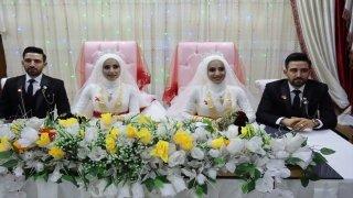 Adıyaman'da ikiz kardeşler, kendileri gibi tek yumurta ikizi kardeşlerle evlendi