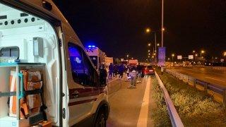 İstanbul'daki zincirleme trafik kazasında iki kişi yaralandı