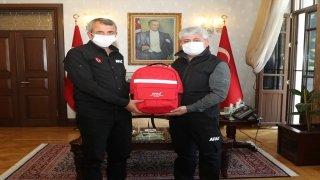 AFAD Başkanı Sezer, Hatay Valisi Doğan'ı ziyaret etti